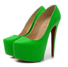 Christian Louboutin Daffodile 160mm Suede Platform Pumps Red Bottom Shoes Green