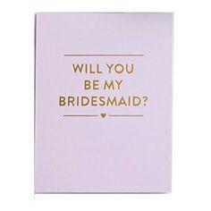 Be My Bridesmaid Card / Boxed Set