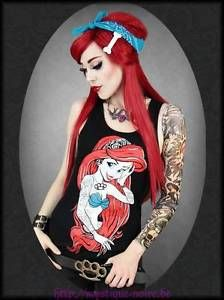 ... Rebel Mermaid Meerjungfrau Gothic Horror Punk Arielle Tattoos | eBay