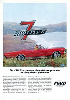 1966 Ford Galaxie 7-Litre Convertible Advertisement Road & Track November 1965 (by SenseiAlan)