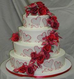 Heart wedding cake for a Valentine's Day themed wedding.  Keywords: #valentinesdayweddingthemeinspiration #valentinesdayweddingcake #valentinesdayweddingthemeideas #jevel #jevelweddingplanning Follow Us: www.jevelweddingplanning.com www.pinterest.com/jevelwedding/ www.facebook.com/jevelweddingplanning/