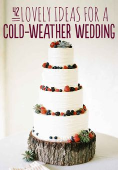 42 Lovely Ideas For A Cold-Weather Wedding - I LOVE spring but my birthday is in May so if/when this comes it'll probably be Fall/Winter wedding