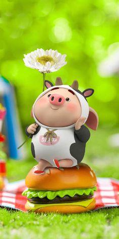 Pig Wallpaper, Cute Panda Wallpaper, Panda Wallpapers, Cute Cartoon Wallpapers, This Little Piggy, Little Pigs, Animated Cow, Cute Piglets, Wonder Art
