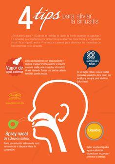 Infografía: 4 tips para aliviar la #sinusitis. #salud y #bienestar