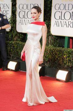 Angelina Jolie in Versace, 2012 Golden Globe Award