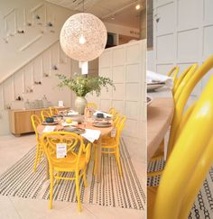 Just like the yellow dining set I miss so much, I want yellow!!