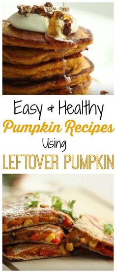 Check out my Easy Healthy Pumpkin Recipes for Leftover Pumpkin!