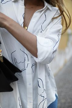 teetharejade Outfit: Line art blouse & headband » teetharejade