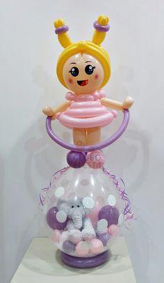 www.globofiesta.com divertida decoración para un englobado con #globos #qualatex, una manera original de regalar un peluche Balloon Arrangements, Balloon Decorations, Stuffed Balloons, Balloons And More, Balloon Animals, Art Party, Birthday Balloons, Diy Crafts, Projects