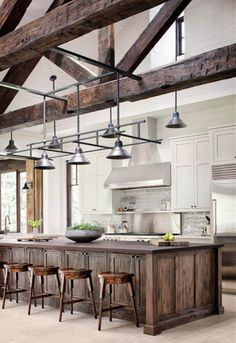 Awesome Rustic Farmhouse Kitchen Cabinets Decor Ideas Of Your Dreams – Rustic Kitchen Design, Kitchen Cabinet Remodel, Kitchen Cabinet Styles, Farmhouse Kitchen Cabinets, Farmhouse Style Kitchen, Modern Farmhouse Kitchens, Kitchen Modern, Eclectic Kitchen, Wood Cabinets