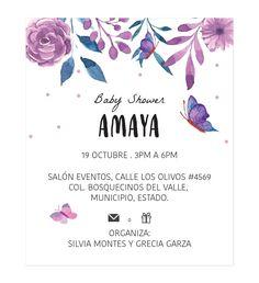 Diseño Invitación Baby Shower Butterfly - Oh! Yupi Yei