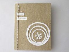 Handmade Christmas Card  Handmade Holiday Card  100 by ElodiesShop, $18.00