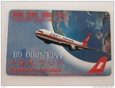 Shanghai Airlines Mileage card,Frequent Flyer Program card