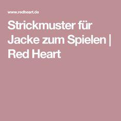 Strickmuster für Jacke zum Spielen   Red Heart
