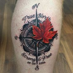 True North Strong and Free Tattoo for men on arm for men forearm verse tattoos for men