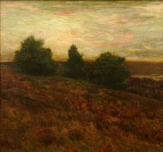 """""""Autumnal,"""" Charles Warren Eaton, ca. 1900-1910, oil on canvas, 28 x 30"""", private collection."""