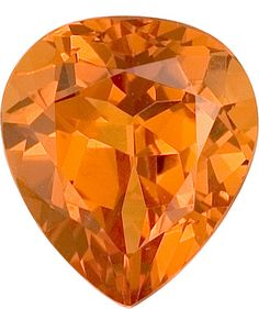 Spessartite Garnet Loose Gemstone, Orange Color, Pear Cut, 9.5 x 8.4 mm, 3.26 Carats at BitCoin Gems