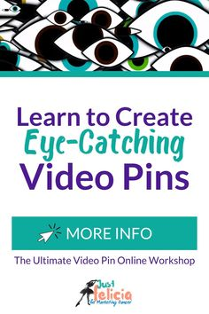 At The Ultimate Video Pin Online Workshop, you will learn how to create eye-catching video pins that convert. During April 2020, I'm running a special promotion for the workshop and I will be teaching it live. You can check out the details here and learn a little more about what makes video pins so powerful.