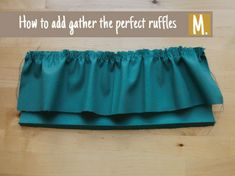How to gather the perfect ruffles ? Find it out in this short tutorial #sewingtutorials #compagniem