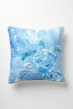 Galapagos Pillow. Silk painting perhaps?