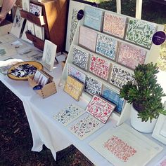 Prints and notecards - Amelia Herbertson Craft Stall Display, Market Stall Display, Craft Fair Displays, Market Stalls, Display Ideas, Booth Displays, Craft Booths, Shop Organisation, Starting An Etsy Business
