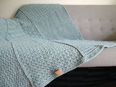 Crochet Blanket Powder Blue Throw Knit by CuddleAndSnooze Swaddle Blanket, Wool Blanket, Knitted Blankets, Crochet Stitches, I Shop, Interior Decorating, Powder, Old Things, Cushions