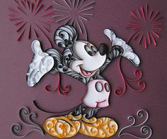 mice, walt disney, mickey mouse, disney crafts, firework, art, craft tutorials, paper quilling, paper crafts