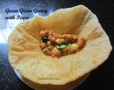 Green Gram Gravy with Poori