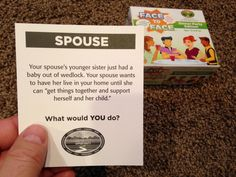 Family struggles...What would YOU do? FACE to FACE Dinner Party Edition.  Scenario of the Day. 12-05-14