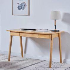Home Office Desks, Home Office Furniture, Furniture Deals, Diy Furniture, Furniture Design, Office Nook, Office Decor, Solid Wood Desk, Wooden Desk