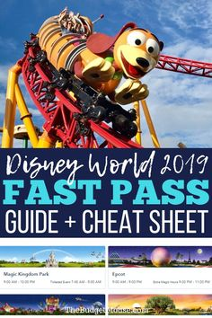 Get the ultimate guide to Disney Fast Pass for 2019 plus a FREE printable cheat sheet to help with your Disney World planning. Get more DIsney World tips and tricks from The Budget Mouse and all of the FastPass advice you'll need. Disney World Resorts, Fastpass Disney World, Disney World Vacation Planning, Disney Planning, Disney Vacations, Disney Parks, Vacation Ideas, Trip Planning, Disneyland Vacation