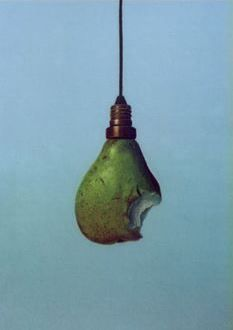 """Birne (Bulb   In German, """"bulb"""" is called """"Birne"""", which is the same word for """"pear"""")"""