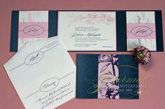 Gourmet Invitations Blog: Jolina + Angelo: Cherry Blossom Wedding Invitations