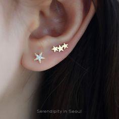 star constellation cartilage stud piercing