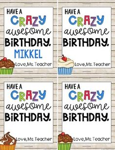 FREE Instant, Editable Student Birthday Gift Tags! by Chalk and Apples | Teachers Pay Teachers