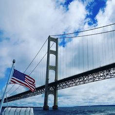 What a Kick Ash Start to our 4th of July Weekend! Make it Great! #mackinacisland #mightymac #boatride #fourthofjuly #kickashbasket