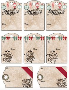 Free printable Christmas gift tags: 13 unique Christmas designs, various sizes. No more buying gift tags! Just print and use! Free Printable Christmas Gift Tags, Diy Christmas, Xmas, Christmas Tables, Nordic Christmas, Modern Christmas, Christmas Stockings, Christmas Cards, Gift Certificates