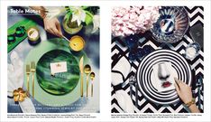 """Barney's invites you to dinner with this beautiful editorial called """"Table Mates"""". //"""