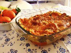 La lasagna..ma vegetariana. La versione con i broccoletti e la zucca.  http://www.ditestaedigola.com/lasagna-veg/