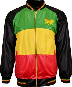 Shop Mens Rasta Tracksuit Set Lion OF Judah Colored Zipper Jacket And Elasticated Waist Trouser (X-Large, Black Multicolored). Rasta Pictures, Mens Outdoor Jackets, Reggae Style, Rasta Colors, Tracksuit Set, Lion Of Judah, Bob Marley, Sweater Hoodie, Military Jacket