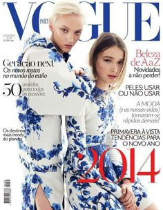 April Tiplady & Maddison Brown wearing Valentino by Nicole Bentley for Vogue Portugal January 2014 Cover  | The House of Beccaria