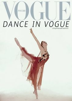 A 1959 photograph of Maya Plisetskaya on the cover of Vogue Russia ('Dance in Vogue'). Photo: Irving Penn.