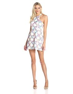 I like the cut of this dress but the pattern is a bit too busy.