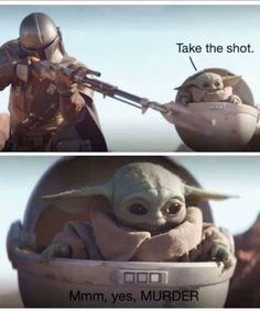 Best Baby Yoda Memes from Star Wars The Mandalorian - Baby Yoda Reactions Yoda Meme, Yoda Funny, Stupid Funny Memes, Funny Relatable Memes, Hilarious, True Memes, Star Wars Meme, Star Wars Art, Images Star Wars