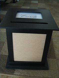 lack wooden wedding card box