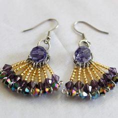 Fan Earrings | JewelryLessons.com