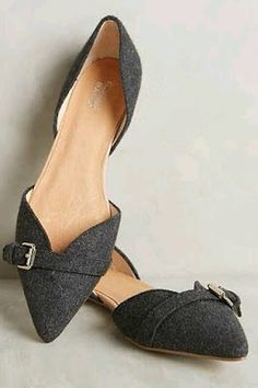 Love a pointy toe d'orsay shoe