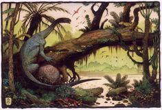 恐竜+アート?「ランツェンドルフ古生物アート賞」受賞アーティストが描く古の世界がスゴイ! | nanapi [ナナピ]