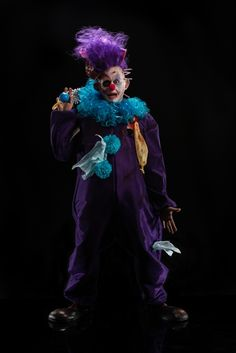 Dina's clown, inspired by her fear of tornadoes. Photo Credit: Brett-Patrick Jenkins