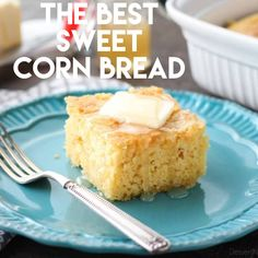 is the BEST sweet corn bread recipe! It's sweet, moist, buttery, and light thanks to an additional technique. It will quickly become your favorite sweet corn bread recipe! Good Food, Yummy Food, Tasty, Baking Recipes, Dessert Recipes, Sweet Bread, Corn Bread, Food To Make, Foodies